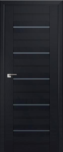 Межкомнатная дверь  48U графит 800*2000 Черный матовый серия ProfilDoors серия U Модерн из экошпона   - Апис плюс