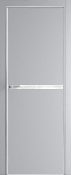 Межкомнатная дверь  11 Е (гладкая) 800 Манхеттэн (кромка матовая) AGB Eclipse (190) с 4-х сторон серия E из экошпона   - Апис плюс