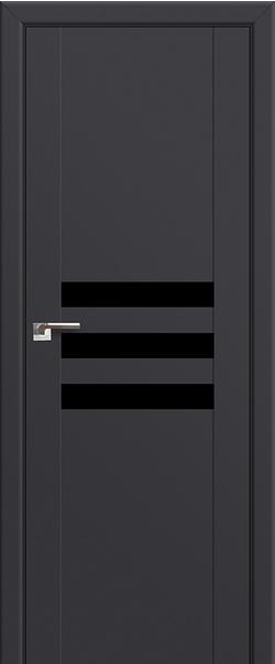 Межкомнатная дверь  74U черный лак 800*2000 Антрацит серия ProfilDoors серия U Модерн из экошпона   - Апис плюс