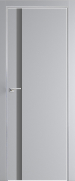 Межкомнатная дверь  6 E серебро матлак 800 Манхэттен (кромка матовая) AGB Eclipse (190) серия E из экошпона   - Апис плюс