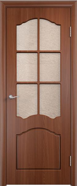 Межкомнатная дверь  Лидия ДО 800*2000 Итальянский орех серия Стандарт из ПВХ    - Апис плюс