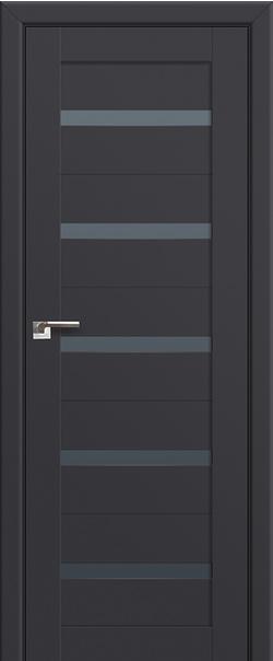 Межкомнатная дверь  7U графит 800*2000 Антрацит серия U Модерн из экошпона   - Апис плюс