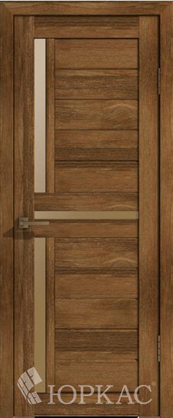 Межкомнатная дверь  Лайт 16 ДО бронза матовое 800*2000 Корица серия Лайт из экошпона   - Апис плюс