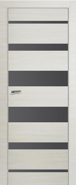 Межкомнатная дверь  18 Z серебро матлак 800 Эшвайт  кроскут кромка матовая РФ с 4 сторон Eclipse серия Z из экошпона   - Апис плюс