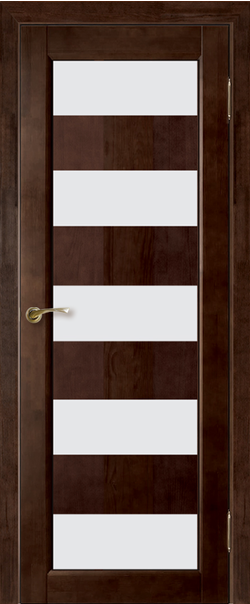 Межкомнатная дверь  Модель №2 мателюкс ДО 800.4*2000 Венге серия Массив сосны    - Апис плюс