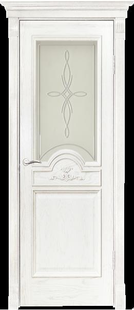 Межкомнатная дверь  Люкс ДО матовое с фр.№3 800*2000 Слоновая кость серия Премиум из шпона    - Апис плюс