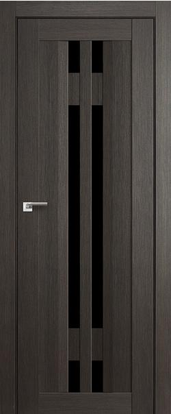 Межкомнатная дверь  40Х триплекс черный 800*2000 Грей мелинга серия X Модерн из экошпона   - Апис плюс
