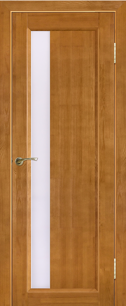 Межкомнатная дверь  Вега 6 ЧО 800*2000 Светлый орех серия Массив сосны    - Апис плюс