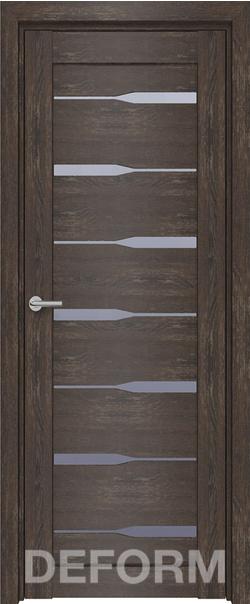 Межкомнатная дверь  D4 DEFORM ДО матовое 800*2000 Дуб шале корица серия DEFORM Серия D из экошпона   - Апис плюс