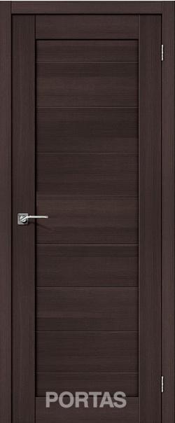 Межкомнатная дверь  20S 800*2000 Орех шоколад серия Portas из экошпона   - Апис плюс