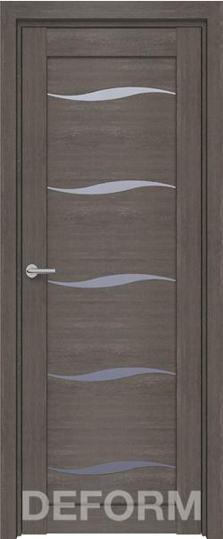 Межкомнатная дверь  D1 DEFORM ДО матовое 800*2000 Дуб шале графит серия DEFORM Серия D из экошпона   - Апис плюс