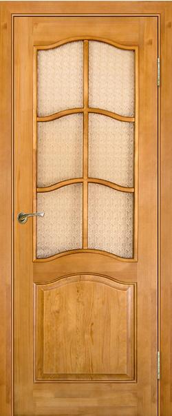 Межкомнатная дверь  Модель №7 ДО 800*2000 Светлый лак серия Массив сосны    - Апис плюс