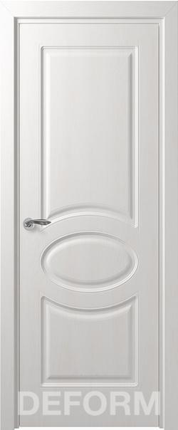 Межкомнатная дверь  Прованс ДГ 800*2000 Дуб шале снежный серия DEFORM Классика из экошпона   - Апис плюс