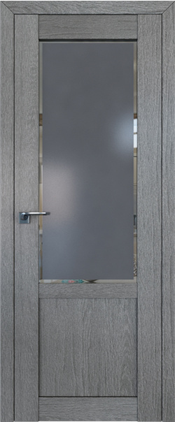 Межкомнатная дверь  2.17XN square графит 800*2000 Грувд серия ProfilDoors серия XN Классика из экошпона   - Апис плюс