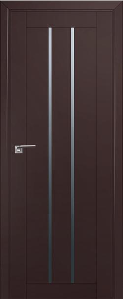 Межкомнатная дверь  49U графит 800*2000 Темно-коричневый серия U Модерн из экошпона   - Апис плюс
