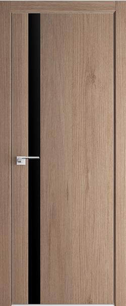 Межкомнатная дверь  6 ZN черный лак 800 Дуб Салинас Светлый кромка матовая с 4-х сторон Eclipse (190) серия ProfilDoors серия ZN Модерн из экошпона   - Апис плюс
