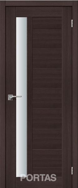 Межкомнатная дверь  28S матовое 800*2000 Орех шоколад серия Portas из экошпона   - Апис плюс