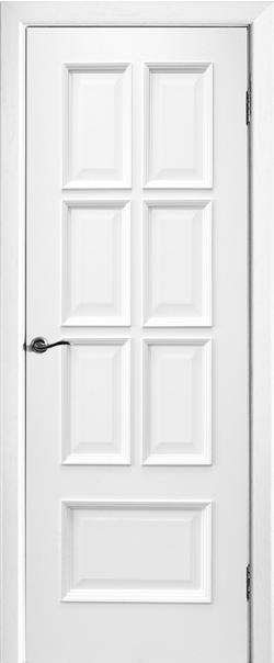 Межкомнатная дверь  Лондон ДГ 800*2000 Белая эмаль серия Премиум из шпона    - Апис плюс