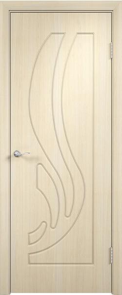 Межкомнатная дверь  Лиана ДГ 800*2000 Беленый дуб серия Стандарт из ПВХ    - Апис плюс