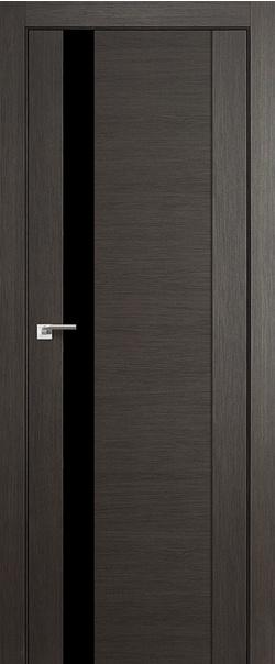 Межкомнатная дверь  62Х черный лак 800*2000 Грей мелинга серия ProfilDoors серия X Модерн из экошпона   - Апис плюс