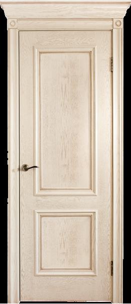 Межкомнатная дверь  Валенсия ш. ДГ 800*2000 Эмаль ваниль серия Премиум из шпона    - Апис плюс