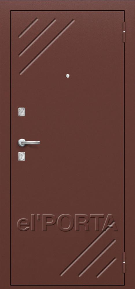 Дверь входная металлическая СТАНДАРТ Л-11 ИТАЛЬЯНСКИЙ ОРЕХ - Апис плюс