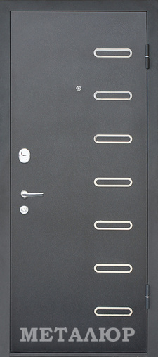 Входная дверь  М29 Дуб французский капучино 860 R (глазок) серия М    - Апис плюс
