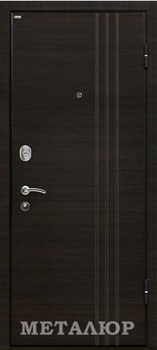 Входная дверь  М15 (5Z) зеркало Венге кроскут 860 R (глазок) серия М    - Апис плюс