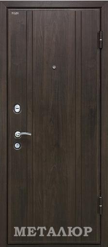 Входная дверь  М6 (6Z) белое Эшвайт кроскут 860 R (глазок) серия М    - Апис плюс
