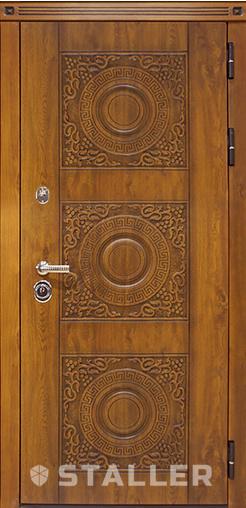 Входная дверь Милано мет. 860 R Сталлер   - Апис плюс