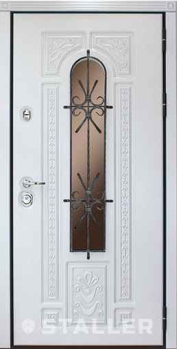 Входная дверь Лацио Аргенто 960 R Сталлер   - Апис плюс