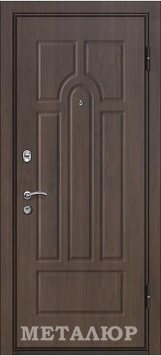 Входная дверь  М12 (105Х) Пекан белый 860 R (глазок) серия М    - Апис плюс