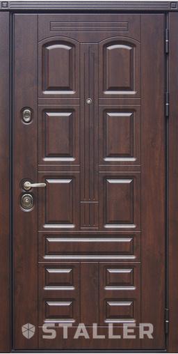 Входная дверь Марино мет. 860 R Сталлер   - Апис плюс