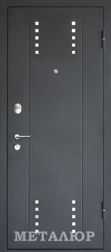Входная дверь  М26(2.73XN) Дуб салинас светлый 860 R (глазок) серия М    - Апис плюс