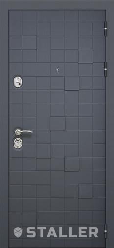Входная дверь Метро2 860*2050 R Сталлер   - Апис плюс