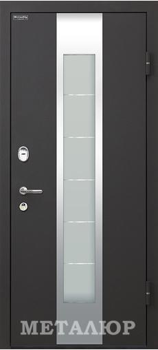 Входная дверь  М35 Черный бархат Эковенге 860 R серия М    - Апис плюс