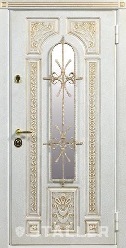 Входная дверь Лацио Сталлер Оро (патина золото) муар белый 88 Р Сталлер   - Апис плюс